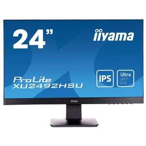 """Ecran PC 24"""" Iiyama Prolite XU2492HSU-B1 - Full HD, Dalle IPS, 75 Hz, 4 ms (senetic.fr)"""