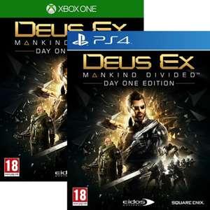 Deus Ex Mankind Divided Augmented Edition sur Xbox One (2.96€ sur PS4 - Vendeur tiers)