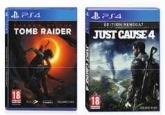 2 Jeux PS4 parmi une sélection pour 19.99€ - Ex : Jeu Shadow of the Tomb raider + Just cause 4 édition renégat sur PS4