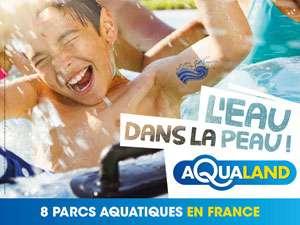 Billet 1 Jour non daté pour Aqualand France