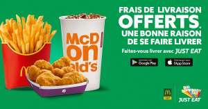 Frais de livraison offerts en livraison - McDonald's Strasbourg Eurométropole (67)