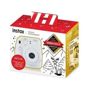 Pack Cadeau Fujifilm Instax Mini 9 (Blanc Cendre) + Calendrier photo 2020 (camara.net)