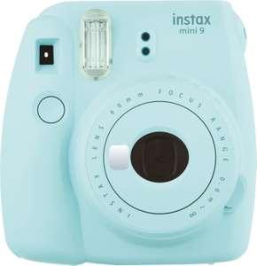Pack appareil photo argentique instantané Fujifilm Instax Mini 9 (bleu) + pack Instax Mini Film 10 Vues + kit Déco (via retrait en magasin)
