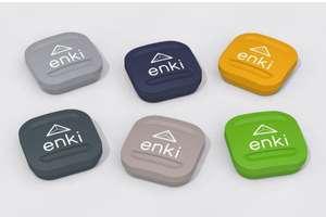 Bouton domotique soft touch NodOn Enocean Enki 3 actions - Coloris au choix
