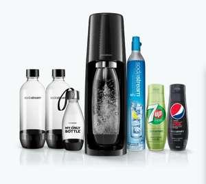 Machine à gazéifier l'eau Sodastream Spirit Pack Expert - avec 3 bouteilles, 2 concentrés, 1 cylindre de gaz et 2 ans de garantie