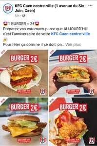 Burger à 2€ - Caen (14)