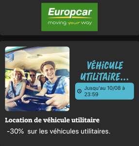 [Clients Macif] 30% de réduction sur les locations de véhicules Utilitaire Europcar - trajets du 03 août au 17 décembre