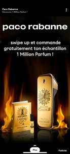 Échantillon gratuit de Parfum Paco Rabanne One Million (via Snapchat) - pacorabanne.com