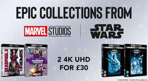 Sélection de Films Marvel, Star Wars et autres en promotion - Ex : 2 Films 4K UHD à 33.41€