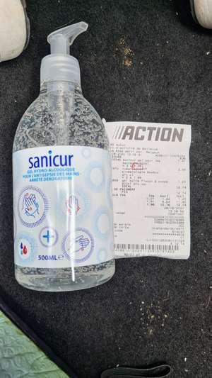 Flacon de gel hydro-alcolique Sanicur - 500mL