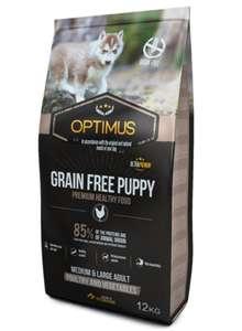 Sac de croquettes Optimus Puppy Grain Free pour Chiot de Moyenne et Grande taille - 12 Kg