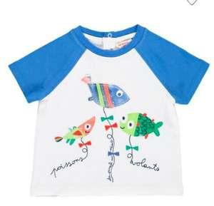 Jusqu'à 70% de réduction sur une sélection d'articles - Ex : T-shirt manches courtes 6 ou 9 mois