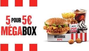 Mégabox à 5€: Double Krunch + 11 Popcorn Chicken + frite + boisson + petit sundae