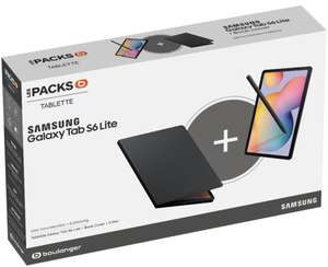 "Tablette tactile 10.4"" Samsung Galaxy Tab S6 Lite SPen - Full 4 Go de RAM, 64 Go + étui Book Cover offert (Via ODR 70€)"