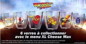 1 Verre Retour vers le futur offert pour l'achat d'un menu XL Cheese max