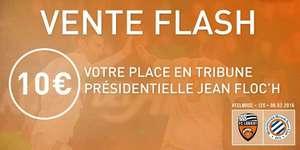 A partir de 19 h : La place en tribune présidentielle Jean Floc'h FC Lorient - Montpellier le samedi 6 Février 2016 - 20h