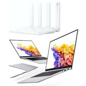 "PC Portable 15.6"" Honor MagicBook 15 (FHD, Ryzen 5 4500U, RAM 8 Go, SSD 512 Go) + Router Honor 3 (Wi-Fi 6 Plus, 3000 Mbps, RAM/ROM 128 Mo)"