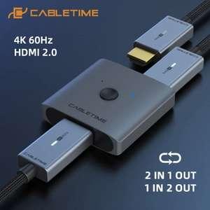 Switch HDMI Cabletime - Compatible 4k 60hz