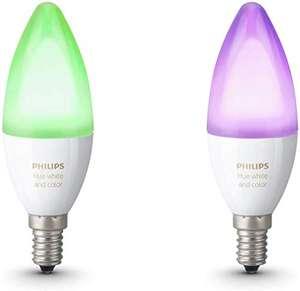 Pack de 2 Ampoules Philips Hue White & Color E14 - Multicolore