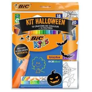 Lot de 18 crayons de Couleur et 10 feutres Bic Kids édition spéciale Halloween (via 4.13€ sur la carte)