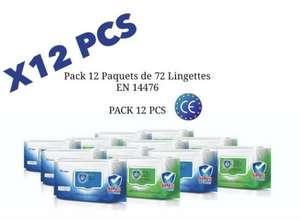 12 Packs de Lingettes désinfectantes EN14476 (vendeur tiers)
