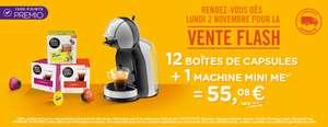 Machine à capsules Krups Nescafé Dolce Gusto Mini Me (noir) + 12 paquets de 16 capsules Nescafé Dolce Gusto au choix (192 capsules)