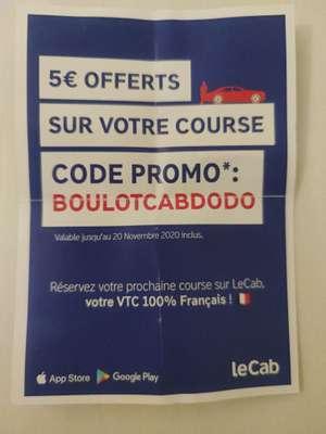 5€ de réduction sur les VTC (via l'application Lecab)