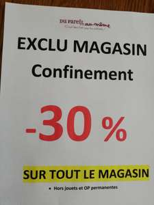 30% de remise sur tout le magasin (Hors jouets et OP Permanentes) - Challans (85)