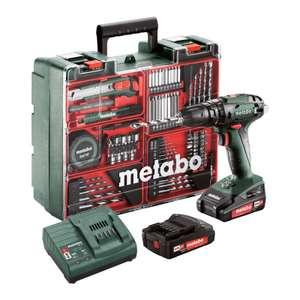 Set Perceuse à percussion sans-fil Metabo SB 18 Set - 18V, 2x2Ah Li-Ion, Chargeur SC 60 Plus, Coffret, Atelier mobile