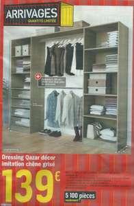 Kit dressing Qazar effet chêne grisé - 220x200x48 cm