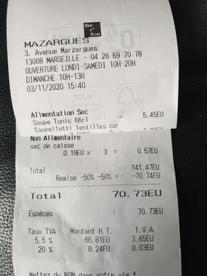 50% de réduction sur tout le magasin (fermeture) - Marseille Mazargues (13)