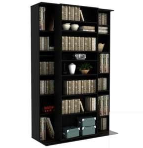 Bibliothèque coulissante a étagères modulables Bento - Noir