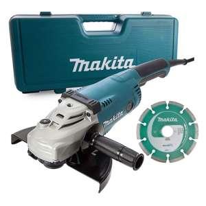 Meuleuse d'angle filaire Makita GA9020KD - Ø230mm, 2200W, avec disque diamant et coffret