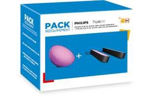 Kit Philips Hue : 2 Lampes connectées Hue Play + Lampe Hue Go (Via retrait 1h en magasin)