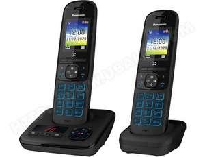 Pack Duo Téléphones sans fil Panasonic KX-TGH722FRB - anti démarchage