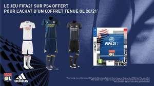 Tenue complète de football adidas Olympique Lyonnais 20/21 + FIFA 21 sur PS4/PS5
