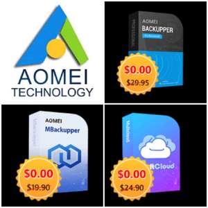 Sélection de logiciels Aomei gratuits (Dématérialisé) Ex: AOmei Backupper Pro - AomeiTech.com