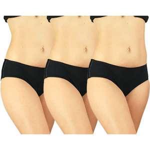 3 Culottes menstruelles absorbantes Mypads Adulte Coton - Noir