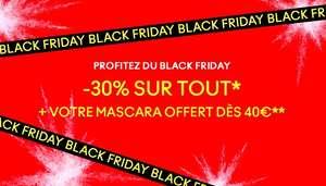 30% de réduction sur une sélection de cosmétiques + un mascara offert dès 40€ d'achat