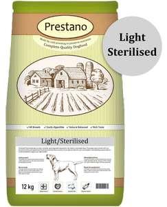 2 Sacs de Croquettes Prestano Light Sterilised Prestano Light Sterilised pour Chiens Stérilisés/Surpoids - 2x 12Kg