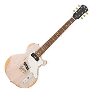 Guitare électrique Cort Sunset TC, finition Worn White Blonde