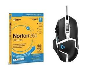Souris Logitech filaire G502 Hero SE + 1 an d'abonnement antivirus Norton 360 Deluxe
