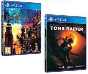 Jeu Shadow of the Tomb Raider ou Kingdom Hearts 3 sur PS4