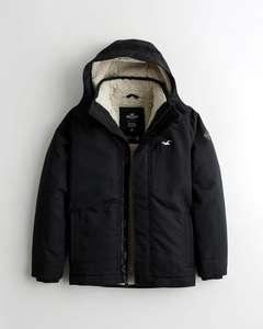 Manteau Hollister Doublé Sherpa pour Hommes - Tailles & Coloris au choix