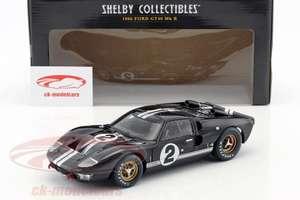 Voiture modèle réduit Shelby Collectives - Ford GT40 MK II LeMans 1966 McLaren (1:18) - ck-modelcars.de
