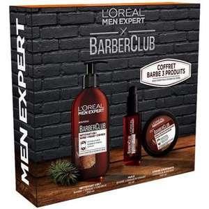 Coffret L'Oréal Paris Barber Club Men Expert - 3 produits : 1 Gel nettoyant, 1 Huile pour la barbe et 1 Crème coiffante