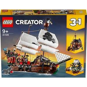 Jeu de construction Lego Creator 3 en 1 - Le Bateau Pirate n°31109