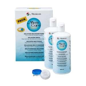 5€ de réduction dès 15€ d'achat - Ex : Lot de 2 solutions d'entretien multi-fonctions pour lentilles MeniCare Soft/Menicon - 2 x 360 ml