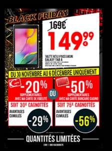 "[Porteurs de Cartes] Tablette 8"" Samsung Galaxy Tab A (Via Carte de Fidélité & Carte Bancaire Casino - 67.5€ via Cmax)"