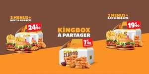 Sélection d'offres promotionnelles - Ex: 2 Menus Burger King + Box de 20 Nuggets à 19€90